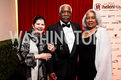 Judith Terra, Carl and Resa Cole. Photo by Tony Powell. 2013 Helen Hayes Awards. Warner Theater. April 8, 2013