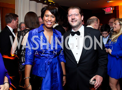 DC Councilmembers Muriel Bowser, David Grosso. Photo by Tony Powell. 2013 Helen Hayes Awards. Warner Theater. April 8, 2013