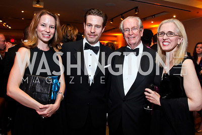 Terrell, Ethan, Bill and Kate McSweeney. Photo by Tony Powell. 2013 Helen Hayes Awards. Warner Theater. April 8, 2013