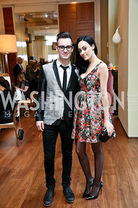 Panic! at the Disco's Brendon and Sarah Urie. Photo by Tony Powell. 2013 Kennedy Center Honors George Stevens Brunch. Mandarin Oriental. December 8, 2013
