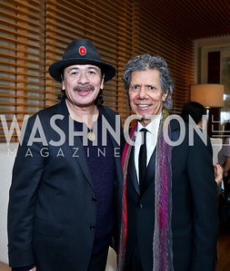 KC Honoree Carlos Santana, Jazz Musician Chick Corea. Photo by Tony Powell. 2013 Kennedy Center Honors George Stevens Brunch. Mandarin Oriental. December 8, 2013
