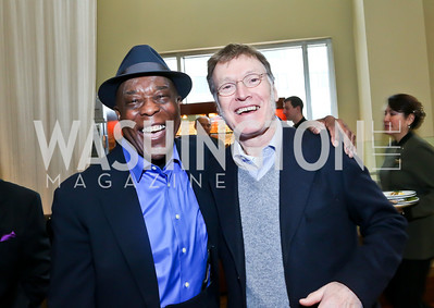 Blues Legend and FMR KC Honoree Buddy Guy, Steve Winwood. Photo by Tony Powell. 2013 Kennedy Center Honors George Stevens Brunch. Mandarin Oriental. December 8, 2013