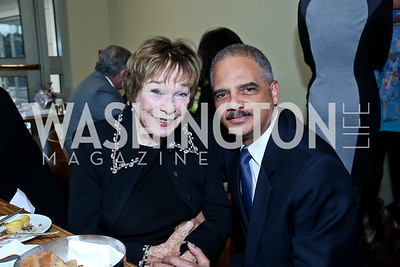 KC Honoree Shirley Shirley MacLaine, Attorney General Eric Holder. Photo by Tony Powell. 2013 Kennedy Center Honors George Stevens Brunch. Mandarin Oriental. December 8, 2013