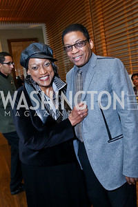 Opera Singer and FMR KC Honoree Jessye Norman, KC Honoree Herbie Hancock. Photo by Tony Powell. 2013 Kennedy Center Honors George Stevens Brunch. Mandarin Oriental. December 8, 2013