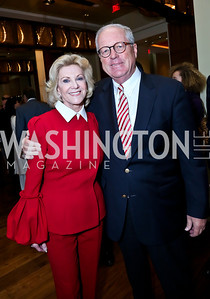 Elaine Wynn, James Johnson. Photo by Tony Powell. 2013 Kennedy Center Honors George Stevens Brunch. Mandarin Oriental. December 8, 2013
