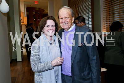Elizabeth and George Stevens. Photo by Tony Powell. 2013 Kennedy Center Honors George Stevens Brunch. Mandarin Oriental. December 8, 2013