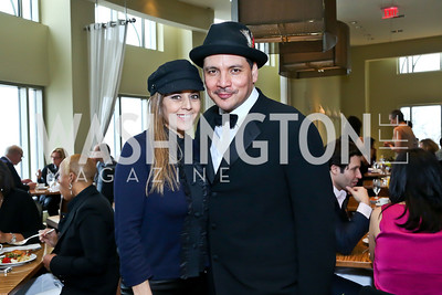 Diane Copeland and Beastie Boys' Mix Master Mike. Photo by Tony Powell. 2013 Kennedy Center Honors George Stevens Brunch. Mandarin Oriental. December 8, 2013