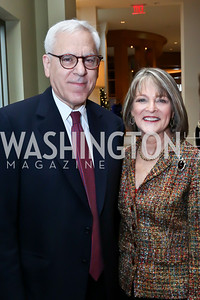 David Rubenstein, Rita Braver. Photo by Tony Powell. 2013 Kennedy Center Honors George Stevens Brunch. Mandarin Oriental. December 8, 2013