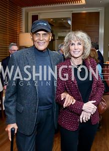FMR KC Honoree Harry Belafonte and Pamela Frank. Photo by Tony Powell. 2013 Kennedy Center Honors George Stevens Brunch. Mandarin Oriental. December 8, 2013