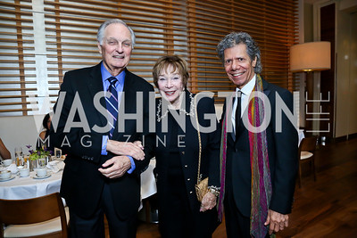 Alan Alda, KC Honoree Shirley MacLaine, Chick Corea. Photo by Tony Powell. 2013 Kennedy Center Honors George Stevens Brunch. Mandarin Oriental. December 8, 2013