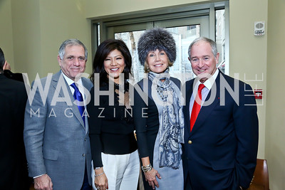 Les Moonves and Julie Chen, Christine Hearst Schwarzman and Stephen Schwarzman. Photo by Tony Powell. 2013 Kennedy Center Honors George Stevens Brunch. Mandarin Oriental. December 8, 2013