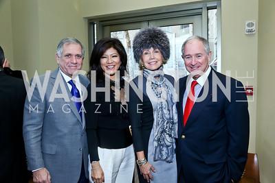 Les Moonves and Julie Chen, Christine Hearst Schwarzman and Stephen Schwarzman. Photo by Tony Powell. 2013 Kennedy Center Honors George Stevens Brunch. Mandarin Oriental. December 8, 2013