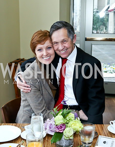 Elizabeth and FMR Rep. Dennis Kucinich. Photo by Tony Powell. 2013 Kennedy Center Honors George Stevens Brunch. Mandarin Oriental. December 8, 2013