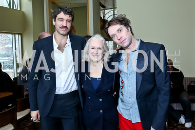 Jorn Weisbrodt, Glenn Close, Singer Rufus Wainwright. Photo by Tony Powell. 2013 Kennedy Center Honors George Stevens Brunch. Mandarin Oriental. December 8, 2013