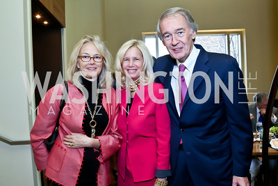 Jennifer Isham, Susan Blumenthal and Sen. Ed Markey. Photo by Tony Powell. 2013 Kennedy Center Honors George Stevens Brunch. Mandarin Oriental. December 8, 2013