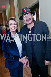 Leader Nancy Pelosi, KC Honoree Carlos Santana. Photo by Tony Powell. 2013 Kennedy Center Honors George Stevens Brunch. Mandarin Oriental. December 8, 2013