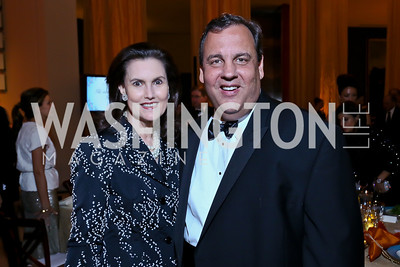 Alexandra deBorchgrave, Gov. Chris Christie. Photo by Tony Powell. The 2013 Points of Light Tribute Awards. Italian Embassy. October 11, 2013