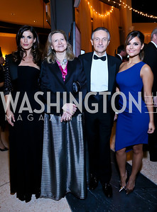 Italian Amb. Claudio Bisogniero, Elisabetta Canalis, Laura Denise Bisogniero, American Idol finalist Pia Toscano. Photo by Tony Powell. The 2013 Points of Light Tribute Awards. Italian Embassy. October 11, 2013