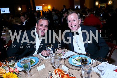 Gov. Chris Christie, Neil Bush. Photo by Tony Powell. The 2013 Points of Light Tribute Awards. Italian Embassy. October 11, 2013