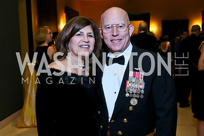 Ellen Miller and RDML Chip Miller. Photo by Tony Powell. The 2013 Points of Light Tribute Awards. Italian Embassy. October 11, 2013
