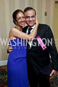 RAMW President Kathy Hollinger, 2013 Restaurateur of the Year Ashok Bajaj. Photo by Tony Powell. 2013 RAMMY Awards. Marriott Wardman Park. June 23, 2013