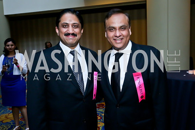 Rasika Chef Vikram Sunderam, Restaurateur of the year Ashok Bajaj. Photo by Tony Powell. 2013 RAMMY Awards. Marriott Wardman Park. June 23, 2013