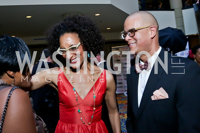 Carla Hall, Matthew Lyons. Photo by Tony Powell. 2013 RAMMY Awards. Marriott Wardman Park. June 23, 2013