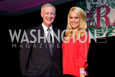 Ward 2 Councilmember Jack Evans, ABC7 Sports Anchor Britt McHenry. Photo by Tony Powell. 2013 RAMMY Awards. Marriott Wardman Park. June 23, 2013