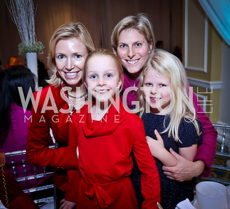 Elizabeth and Cate Dougherty, Skye and Ava Raiser. Photo by Tony Powell. The 2013 Washington Ballet Nutcracker Tea. Willard Hotel. December 15, 2013