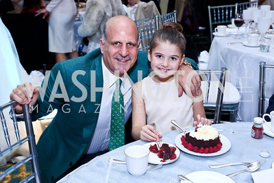Dave Dorros and Birthday girl Sophie Rose Dorros. Photo by Tony Powell. The 2013 Washington Ballet Nutcracker Tea. Willard Hotel. December 15, 2013