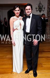 Anne Harper, Lucas Tomlinson. Photo by Tony Powell. 2013 Opera Ball. Villa Firenze. April 6, 2013