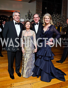 British Amb. Peter Westmacott and Lady Westmacott, General Dynamics CEO Jay Johnson and Sidney McNiff Johnson. Photo by Tony Powell. 2013 Opera Ball. Villa Firenze. April 6, 2013