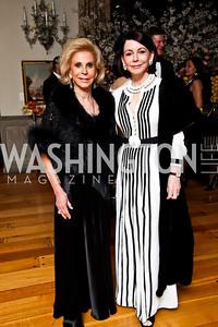 Wilma Bernstein, JoAnn Mason. Photo by Tony Powell. 2013 Opera Ball. Villa Firenze. April 6, 2013