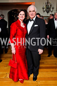 Agnes Aerts and Belgian Amb. Jan Matthysen. Photo by Tony Powell. 2013 Opera Ball. Villa Firenze. April 6, 2013