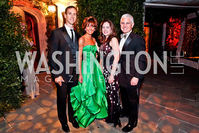 Rob and Capricia Marshall, Lee Satterfield and Patrick Steele. Photo by Tony Powell. 2013 Opera Ball. Villa Firenze. April 6, 2013