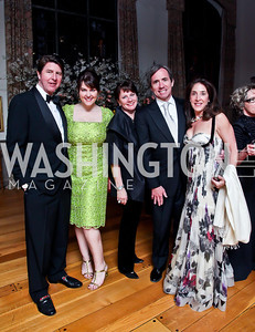 Bruce Bradley, Rachel Pearson, Meg Thompson, Robert Bellinger, Natalie Wilensky. Photo by Tony Powell. 2013 Opera Ball. Villa Firenze. April 6, 2013