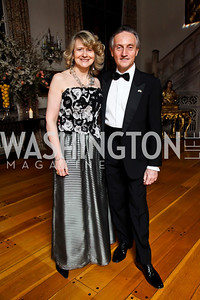 Laura Denise Bisogniero and Italian Amb. Claudio Bisogniero. Photo by Tony Powell. 2013 Opera Ball. Villa Firenze. April 6, 2013