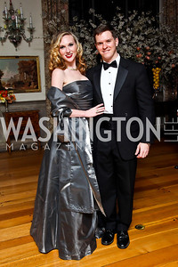 Katie Ele, Michael Polk. Photo by Tony Powell. 2013 Opera Ball. Villa Firenze. April 6, 2013