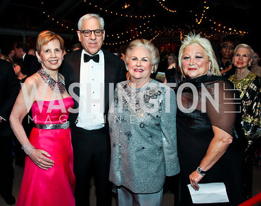 Adrienne Arsht, David Rubenstein, Jacqueline Badger Mars, Constance Millstein. Photo by Tony Powell. 2013 Opera Ball. Villa Firenze. April 6, 2013