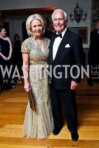 Mary and Mandy Ourisman. Photo by Tony Powell. 2013 Opera Ball. Villa Firenze. April 6, 2013