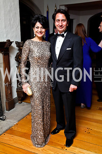Shamim and Said Jawad. Photo by Tony Powell. 2013 Opera Ball. Villa Firenze. April 6, 2013