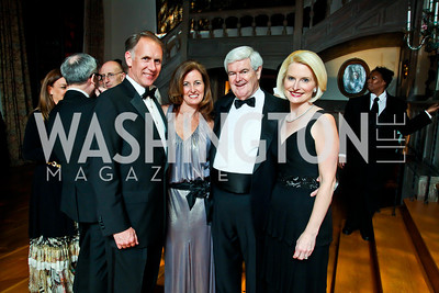 Leonard Brown and Diane Ray Brown, Newt and Callista Gingrich. Photo by Tony Powell. 2013 Opera Ball. Villa Firenze. April 6, 2013