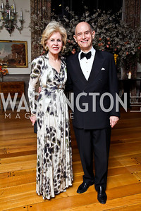 Ann and William Nitze. Photo by Tony Powell. 2013 Opera Ball. Villa Firenze. April 6, 2013