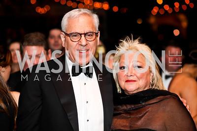 David Rubenstein, Consrance Millstein. Photo by Tony Powell. 2013 Opera Ball. Villa Firenze. April 6, 2013