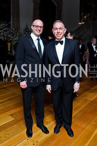 John Roberts, Michael Kaiser. Photo by Tony Powell. 2013 Opera Ball. Villa Firenze. April 6, 2013