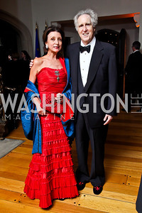 Aniko Gaal Schott and Nash Schott. Photo by Tony Powell. 2013 Opera Ball. Villa Firenze. April 6, 2013