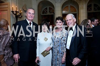 General Jim Jones, DiDi Cutler, Diane Jones, Walter Cutler. Photo by Tony Powell. 45th Annual Meridian Ball. October 18, 2013