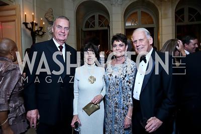 General Jim Jones, DiDi Cutler, Diane Jones, Walter Cutler. Photo by Tony Powell. 45th Annual Meridian Ball. October 18, 2013