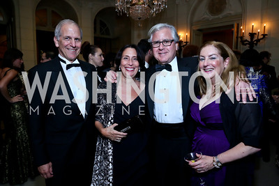 Brent Glass and Cathryn Keller, Howard Fineman and Amy Nathan. Photo by Tony Powell. 45th Annual Meridian Ball. October 18, 2013