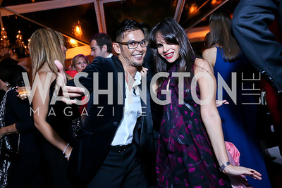 Erwin Gomez, Samira Georgi. Photo by Tony Powell. 45th Annual Meridian Ball. October 18, 2013